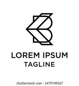 initial letter logo KB, BK, logo template