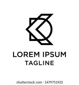 initial letter logo KD, DK, logo template