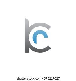 initial letter logo kr, rk, r inside k rounded lowercase blue gray