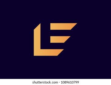 initial letter logo LE, EL, logo template