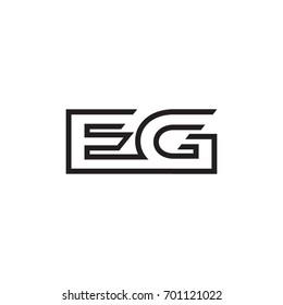 initial letter logo line unique modern