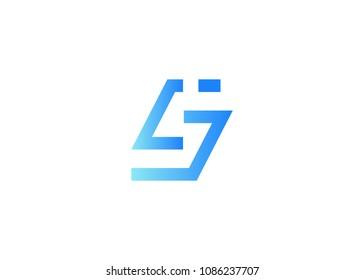initial letter logo LJ, JL, logo template
