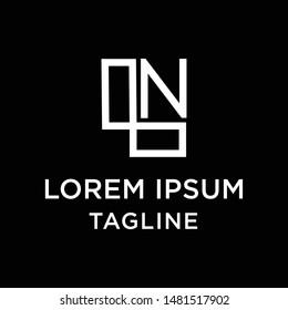 initial letter logo LN, NL, logo template