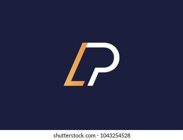 initial letter logo lp, pl, logo template