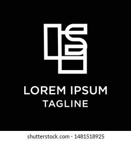 initial letter logo LS, SL, logo template