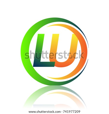 Initial Letter Logo Lu Company Name Stock Vector Royalty Free
