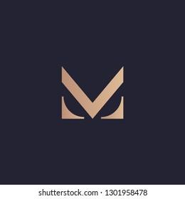 Initial letter logo M, logo template