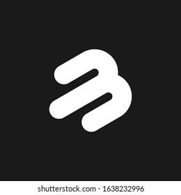 Initial Letter Logo MB Template Design