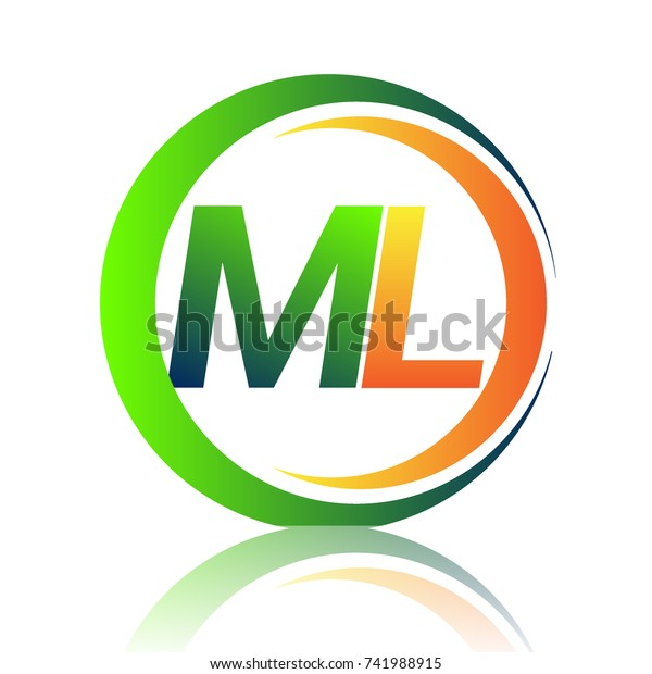 Initial Letter Logo Ml Company Name Stock Vector Royalty Free 741988915