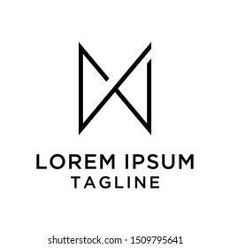 initial letter logo MN,NM, logo template