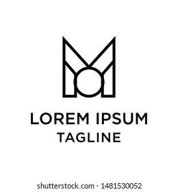 initial letter logo MO, OM, logo template