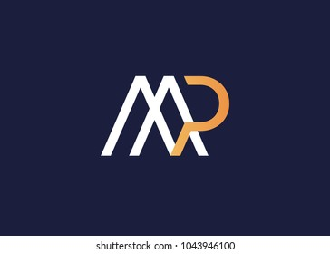 initial letter logo mp, pm, logo template
