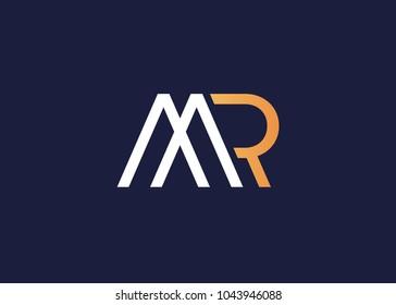 initial letter logo mr, rm, logo template