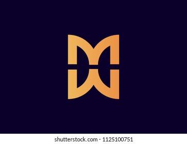 initial letter logo MW, WM, logo template