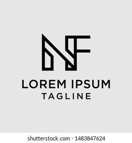 initial letter logo NF, FN, logo template