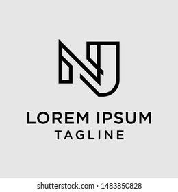 initial letter logo NJ, JN, logo template