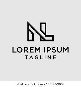 initial letter logo NL, LN, logo template
