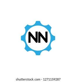 Initial Letter Logo NN Template Design