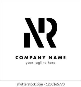 initial letter logo nr, rn, logo template