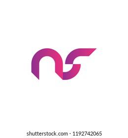 initial letter logo NS, logo template