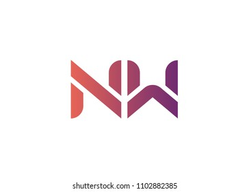 initial letter logo NW, logo template