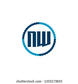 Initial Letter Logo NW Template Vector Design