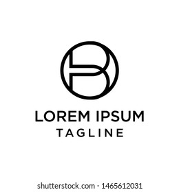 initial letter logo OB, BO logo template