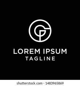initial letter logo OG, GO, logo template