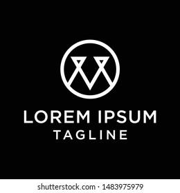 initial letter logo OV, VO, logo template
