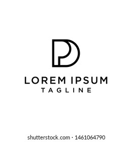 Initial Letter Logo PD, DP, Logo Template