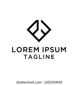 initial letter logo PF,FP, logo template