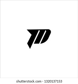 initial letter logo pm, mp