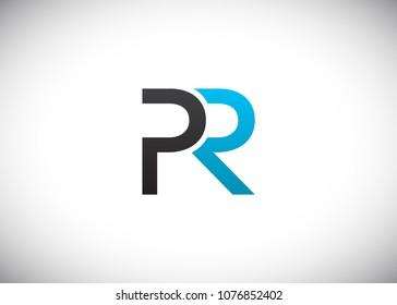 initial letter logo PR, RP, logo template