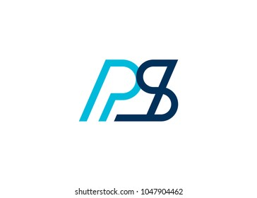 initial letter logo ps, sp, logo template