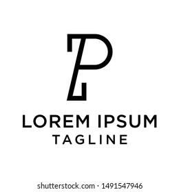initial letter logo PZ, ZP, logo template