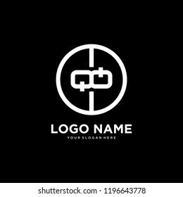 initial letter logo QQ, logo template
