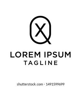 initial letter logo QX, XQ, logo template