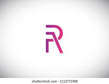 Initial letter logo RA, AR, logo template