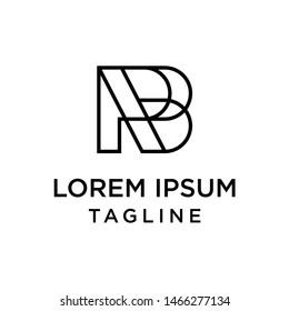 initial letter logo RB, BR logo template