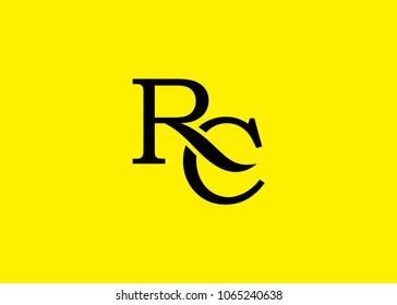 initial letter logo RC, CR, logo template
