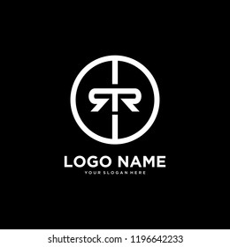 initial letter logo RR, logo template