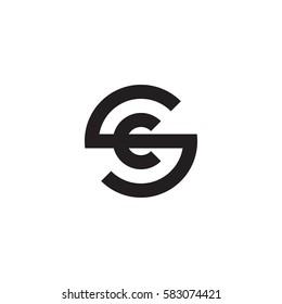 initial letter logo sc, cs, c inside s rounded lowercase black monogram