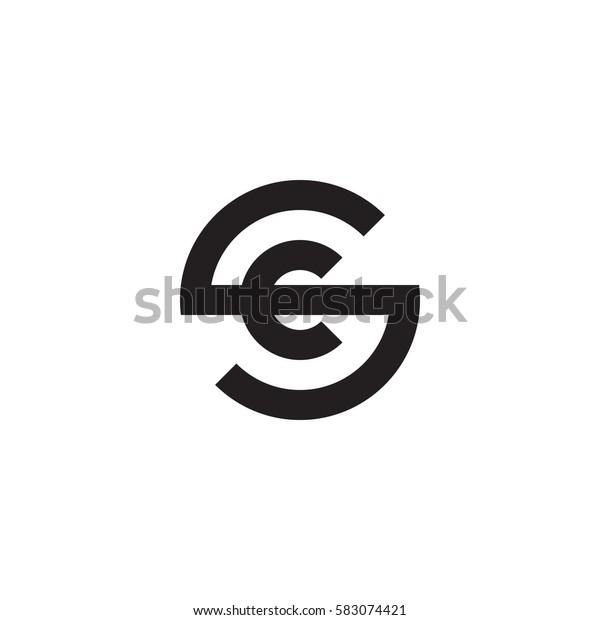 Initial Letter Logo Sc Cs C Stock Vektorgrafik Lizenzfrei