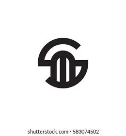 initial letter logo sm, ms, m inside s rounded lowercase black monogram