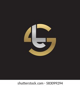 initial letter logo st, ts, t inside s rounded lowercase logo gold silver