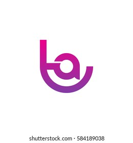 initial letter logo ta, at, a inside t rounded lowercase purple pink