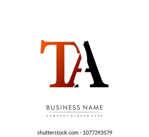 initial letter logo TA colored red and black, Vector logo design template elements for your business or company identity