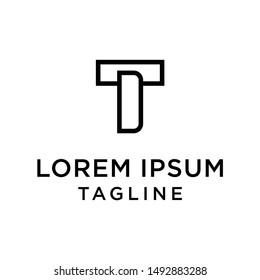 initial letter logo TD, DT, logo template