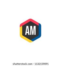 Initial Letter AM Logo Template Design
