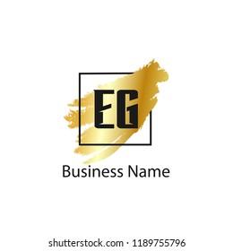 Initial Letter EG Logo Template Design